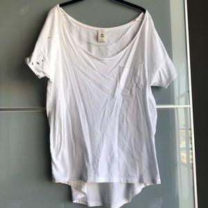 Distressed White T-shirt